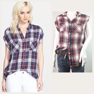 Rails Plaid Shirt Britt S Small Red White Blue